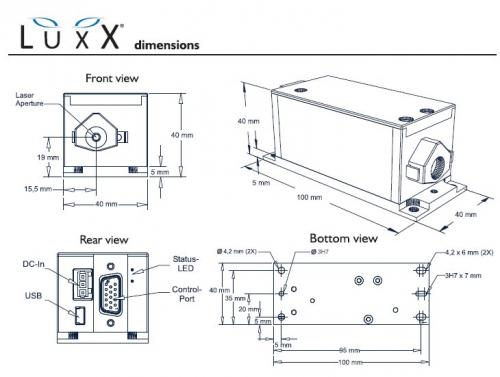 LuxX dimensional drawings